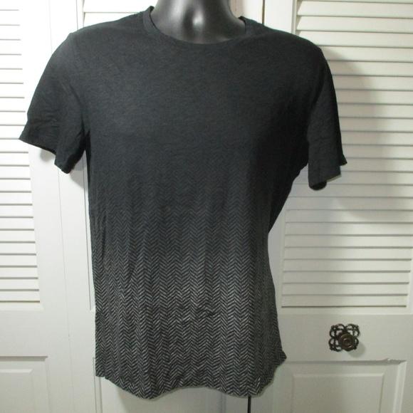 Vince Other - Vince Black & Gray Herringbone T-Shirt Men's M
